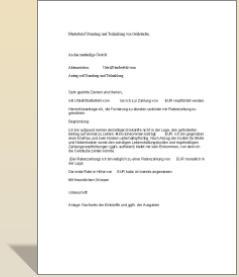 Musterbrief Stundung Und Teilzahlung Von Geldstrafen